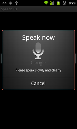 #Google Voice to Text